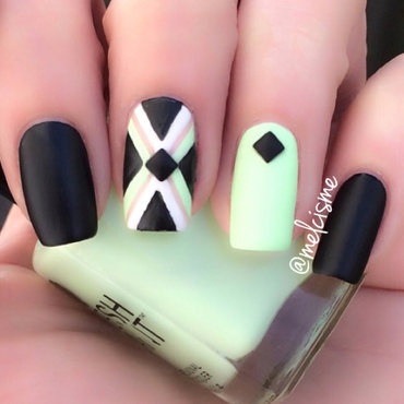X design nail art by Melissa
