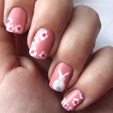 Easter bunny nail art by Barbara P.