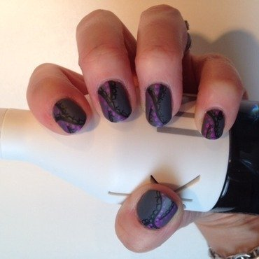 matte laces nail art by Eleadora