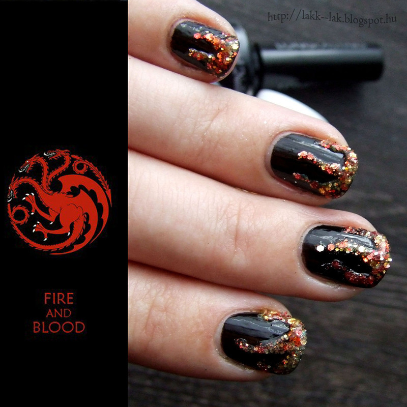 Game of Thrones - House Targaryen nail art by Barbara P. - Nailpolis ...