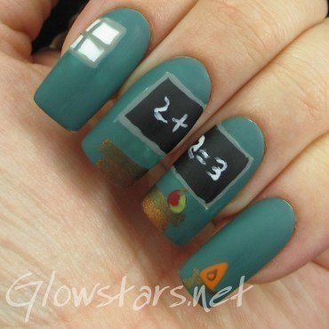 The Digit-al Dozen does Childhood: the classroom nail art by Vic 'Glowstars' Pires
