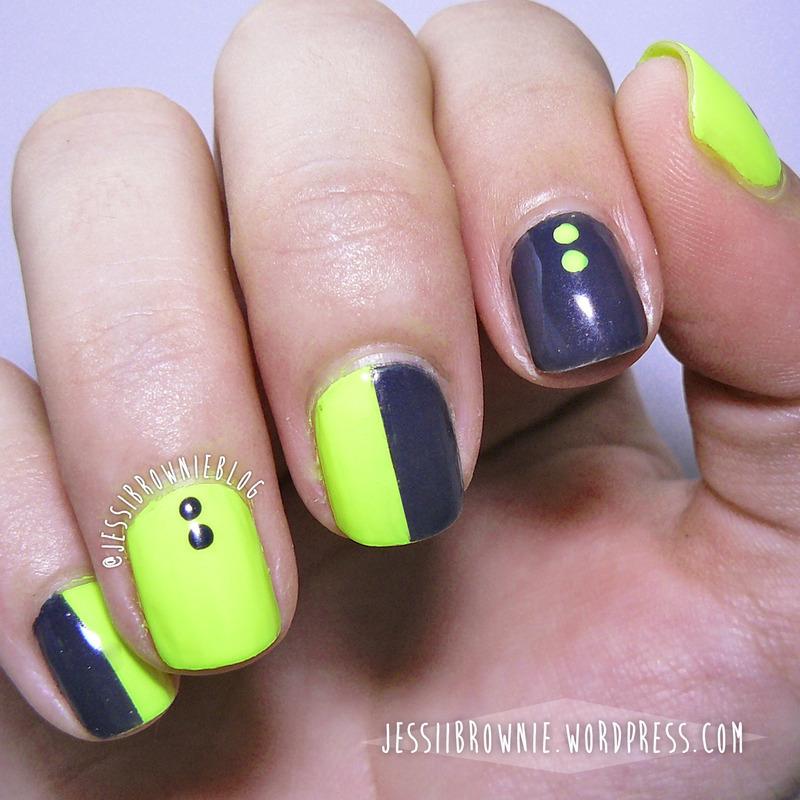 Neon GLow nail art by Jessi Brownie (Jessi)