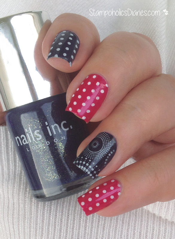 polka dot nails nail art by Natasha
