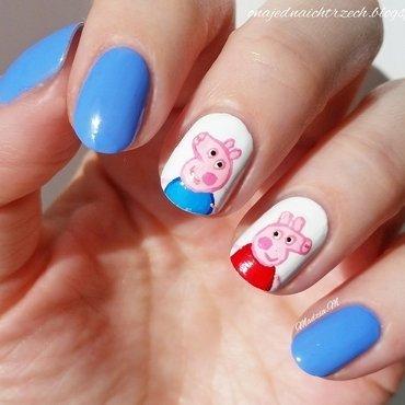 Peppa Pig Icon Nails nail art by MadziaM