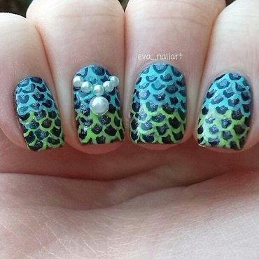 Mermaid Nails nail art by eva_nailart