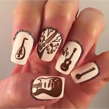 Guitars from around the world nail art by Workoutqueen123