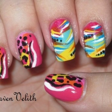 Crazy Colours nail art by Lynni V.