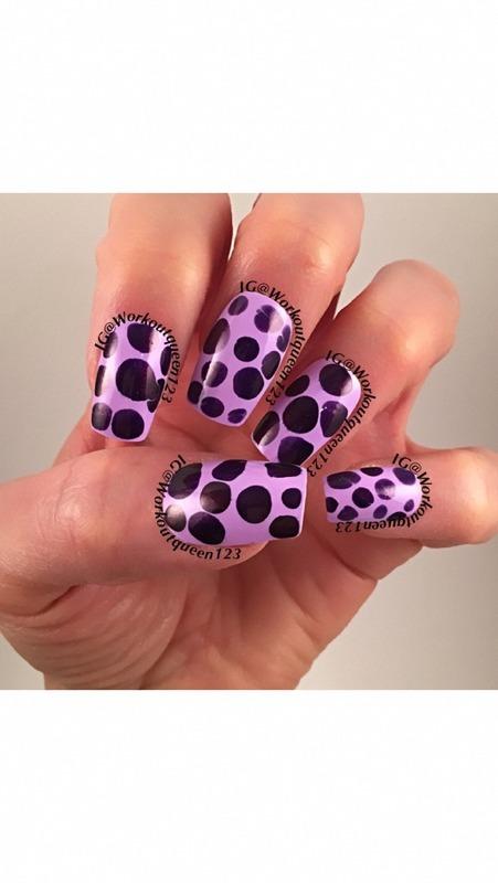 Purple Dotticure nail art by Workoutqueen123