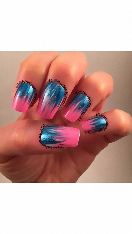 Water Falls nail art by Workoutqueen123