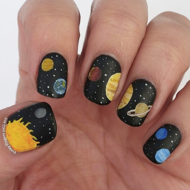 our solar system nail art by Funky fingers nail art - Nailpolis ...