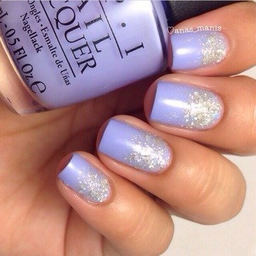 Glitter gradient nail art by anas_manis
