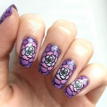 Radial flowers nail art by Marissa Jansen