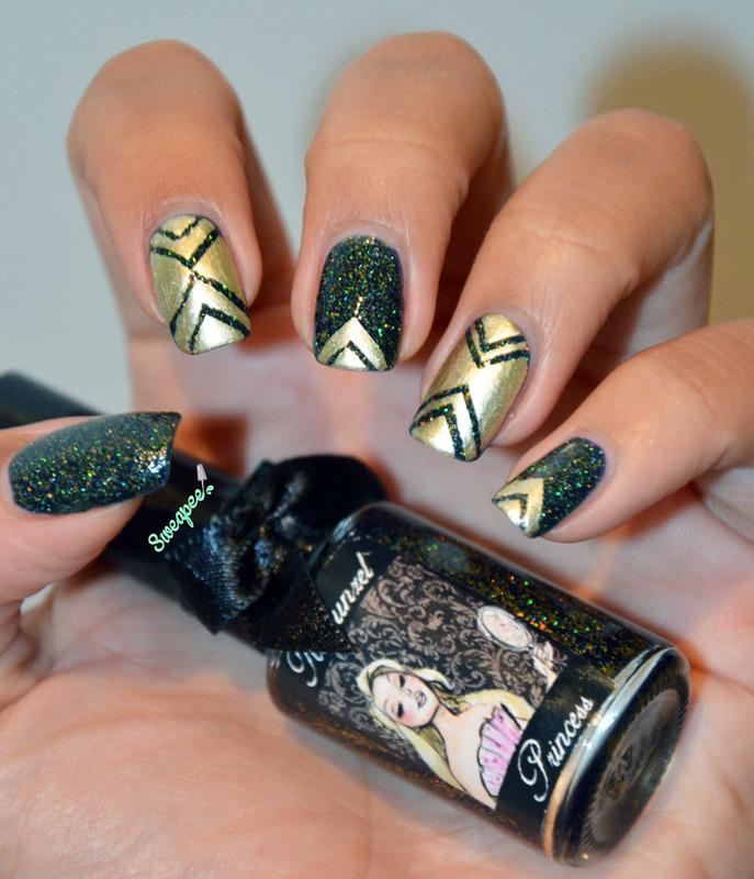 Nail art striping tape nail art by Sweapee