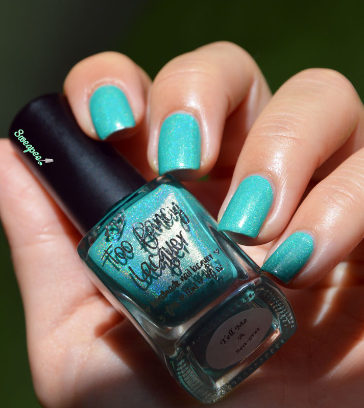 Too Fancy Lacquer Tell me a sea-cret Swatch by Sweapee