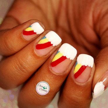 Rainbow Nailart nail art by Stacey  Castanha