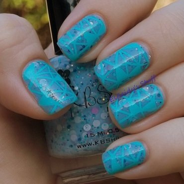 Geometric stamping nail art by Jenette Maitland-Tomblin