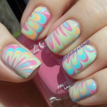 Zoya water marble nail art by Jenette Maitland-Tomblin