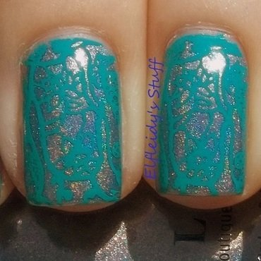 Soft stamping nail art by Jenette Maitland-Tomblin