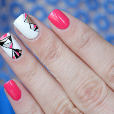 Asymmetrically nail art by bopp