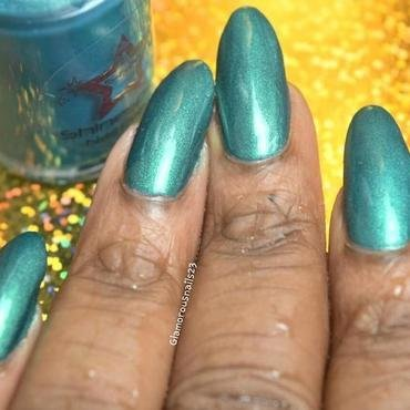 Shinespark Polish Peacock Swatch by glamorousnails23