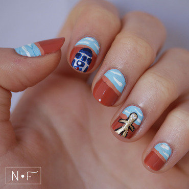 R2D2 and C3PO nail art by NerdyFleurty