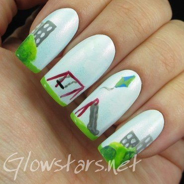 The Digit-al Dozen does childhood: the park nail art by Vic 'Glowstars' Pires
