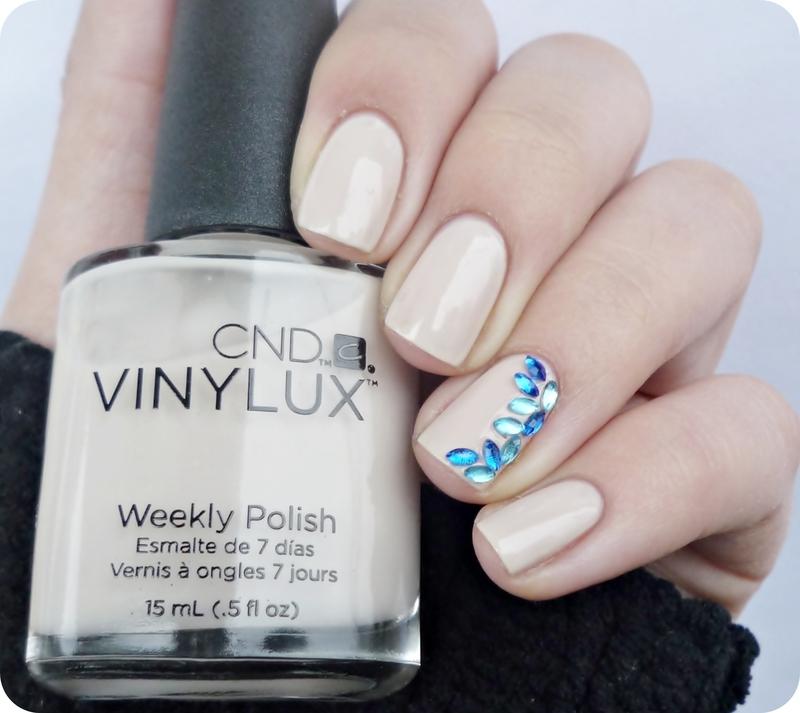 Naked nails with blue horse eye nail art by Romana - Nailpolis ...