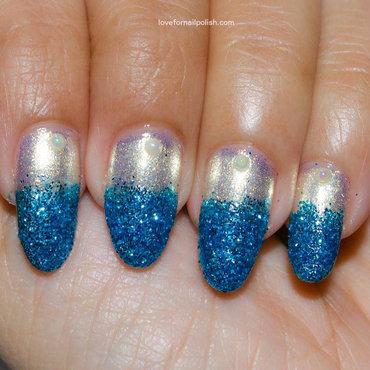 Blue Glitter Nail Tips BornPrettyStore nail art by Demi