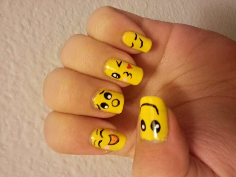 Emoji nail art by KiboSanti - Emoji Nail Art By KiboSanti - Nailpolis: Museum Of Nail Art