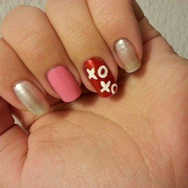 Valentines XOXO nail art by KiboSanti