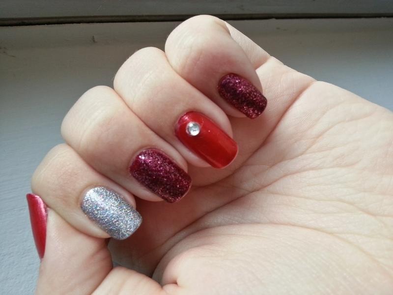 Valentine Bling nail art by KiboSanti