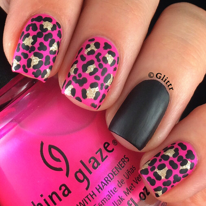 Hot Pink Matte Leopard Print Nail Art By Glittr Nailpolis Museum Of Nail Art