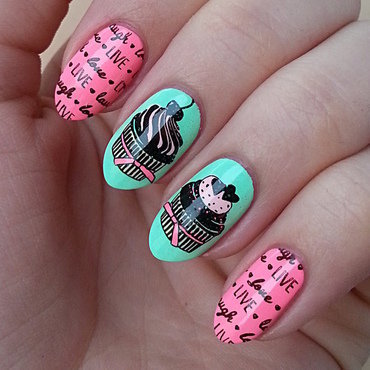 Stamping Maniac Project - Colored nail art by Mgielka M