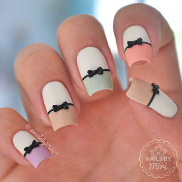 Cute Bow Nails nail art by xNailsByMiri