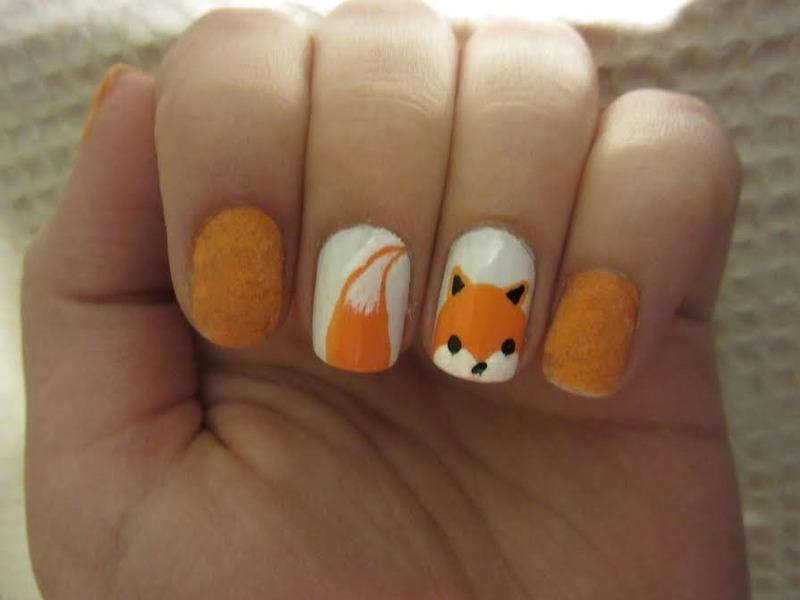 Fox nail art by Maya Harran