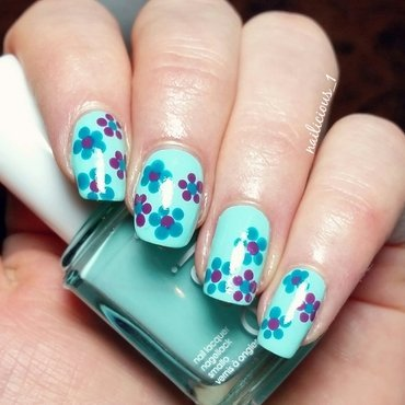 Flowers nail art by nailicious_1