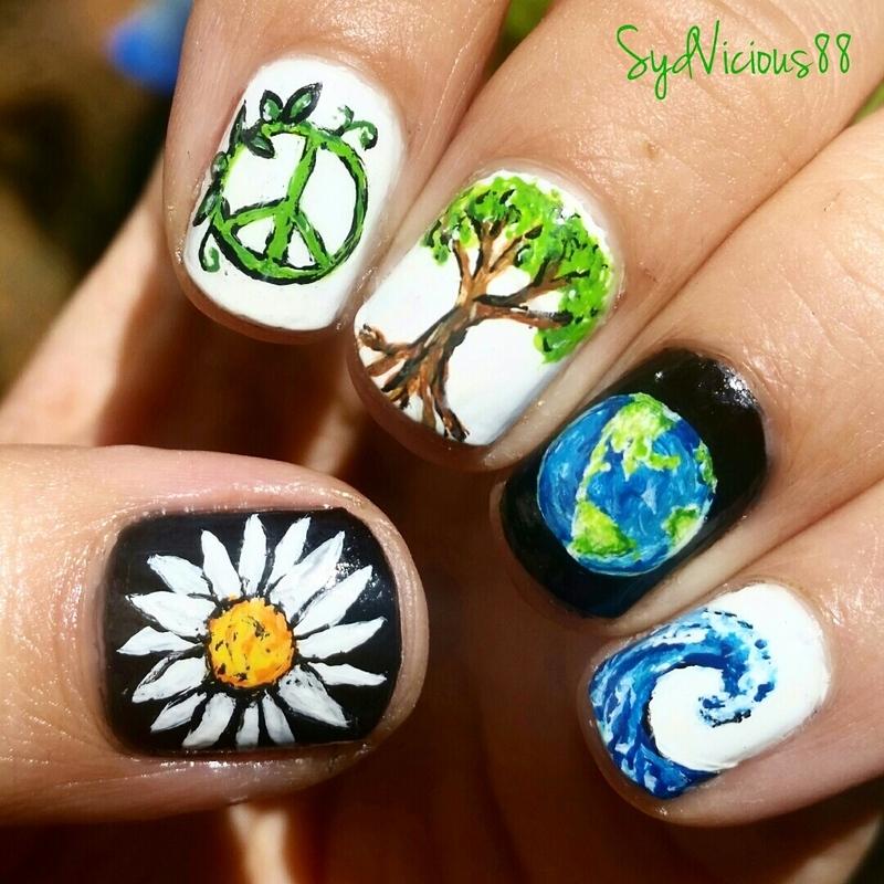 Earth Day nail art by SydVicious