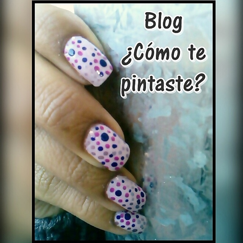 Puntos uña entera nail art by Blog Comotepintaste
