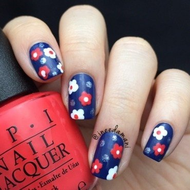 OPI Daisies nail art by Carmen Ineedamani