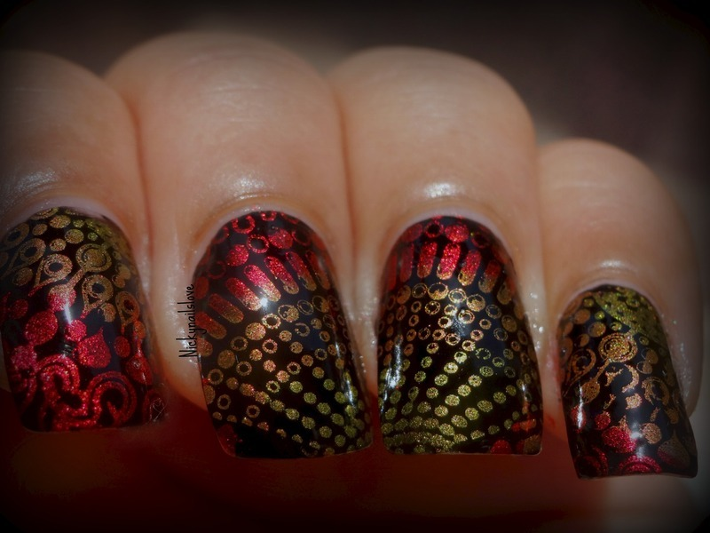 Spin Around nail art by Nicky