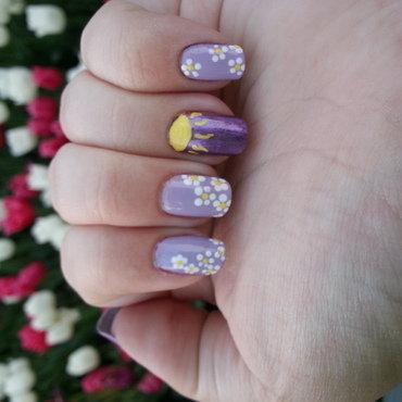 Rapunzel  nail art by KiboSanti