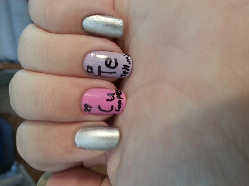 Nerd Love (Valentines 2015) nail art by KiboSanti