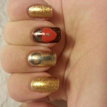 Key to My Heart nail art by KiboSanti