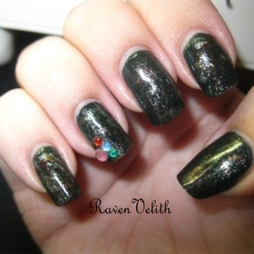 Greed nail art by Lynni V.