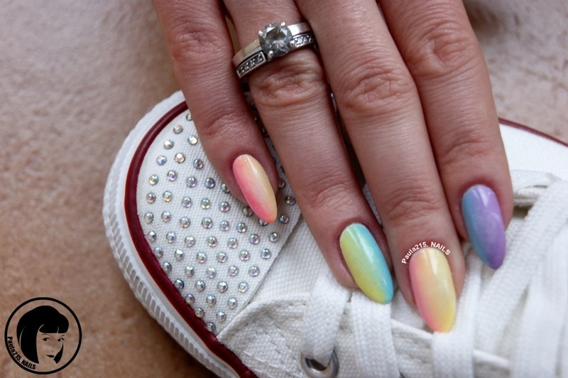 Rainbow. nail art by Paula215. NAILS