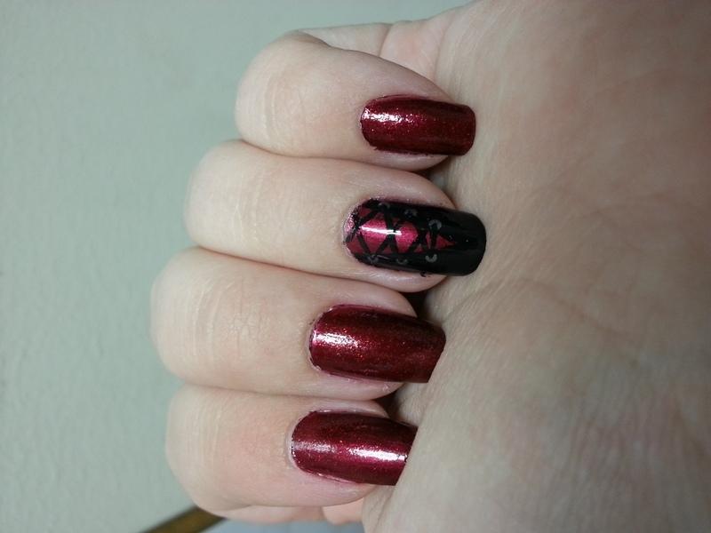Sexy Corset Nails nail art by KiboSanti