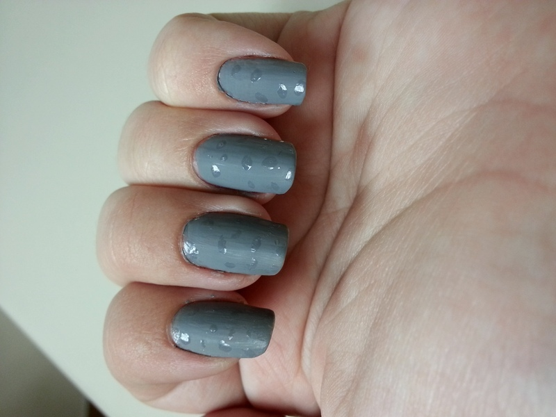 Grey and Rainy nail art by KiboSanti