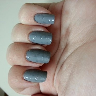Grey and Rainy nail art by KiboSanti