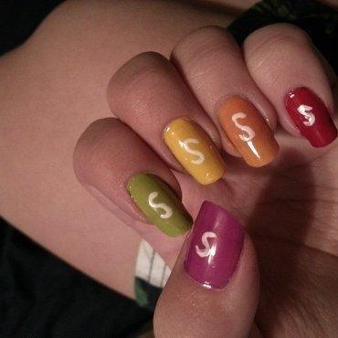 Skittles nail art by KiboSanti
