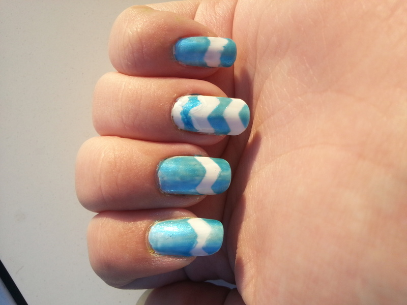 Chevrons nail art by KiboSanti